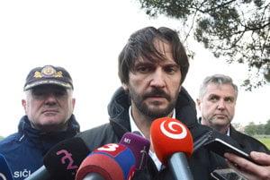 Minister Kaliňák. Dorazil na miesto tragédie.