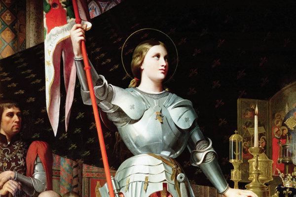 Jana z Arku na korunovácii Karola VII., maľba Dominiquea Ingresa