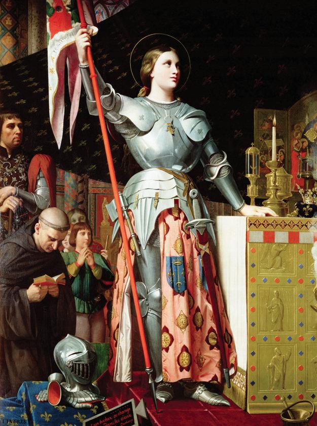 Jana na korunovácii Karola VII., maľba Dominiquea Ingresa