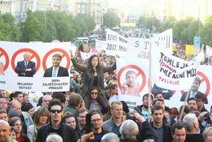 Protesty proti Babišovi.