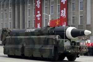 Severokórejská raketa Hwasong-10.