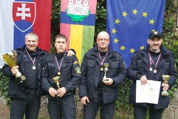 Najúspešnejší tím. Zľava: Pavol Šmelko, Ivan Mikula, Vít Zajac, Marián Hrabaj.