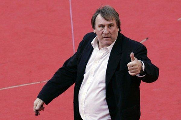 Francúzsky herec Gérard Depardieu.