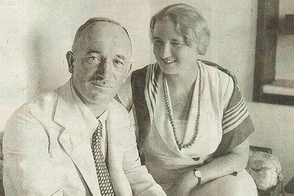 Edvard Beneš s manželkou.