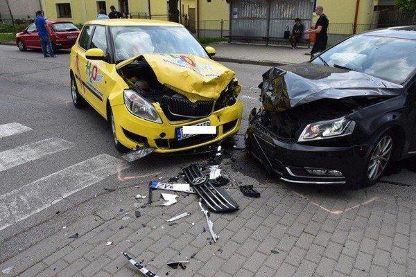 Nehoda v Sliači.