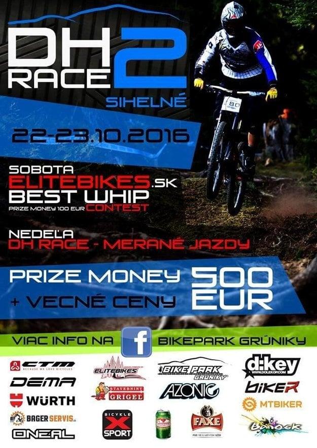 Plagát DH race Grúniky 2016.