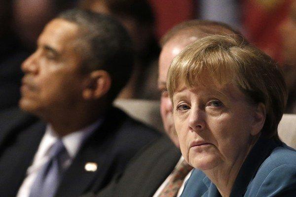 Prezident Obama a kancelárka Merkelová.