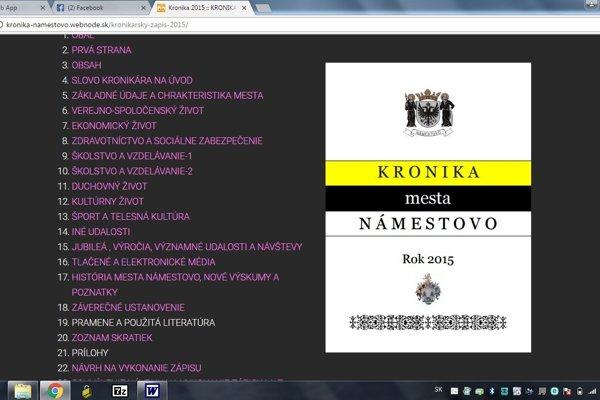Námestovská kronika je na stránke mesta.