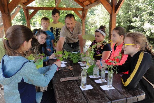 Malí ochranári prírody na tábore v Jelenci.
