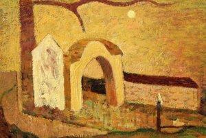 Brána - jeden z obrazov M. A. Bazovského v galérii v Trenčíne.