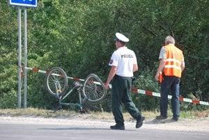Nehodaa sa stala v blízkosti štrkovne a rekreačného centra Zelená voda.