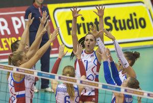 Slovenské volejbalistky postúpili do semifinále.