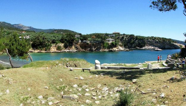 Ostrov Thassos.