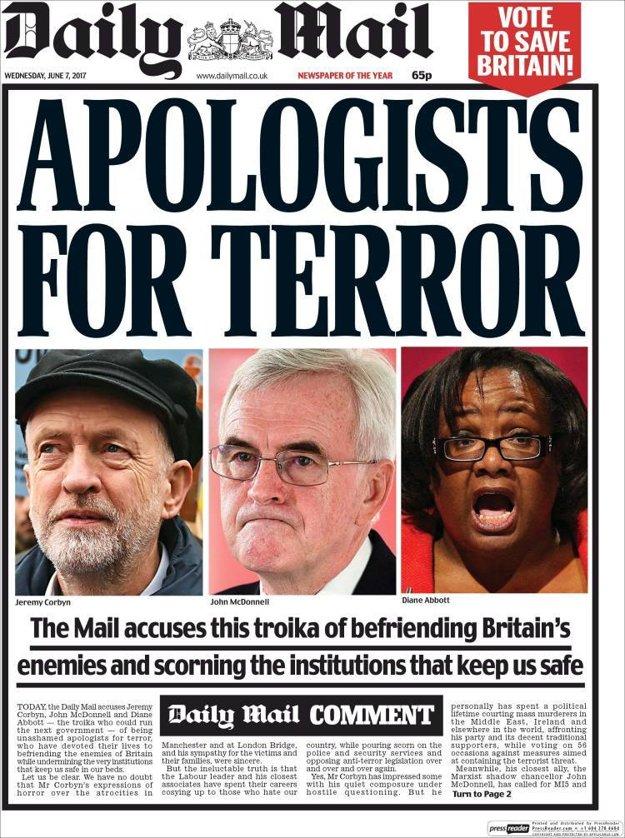 Titulka stredajšieho vydania Daily Mail