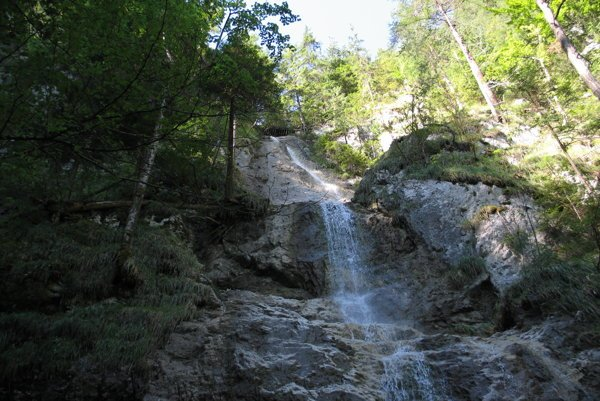 Časť Závojového vodopádu v Sokolej doline.