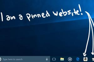 Pripnutie obľúbených webstránok na panel úloh.