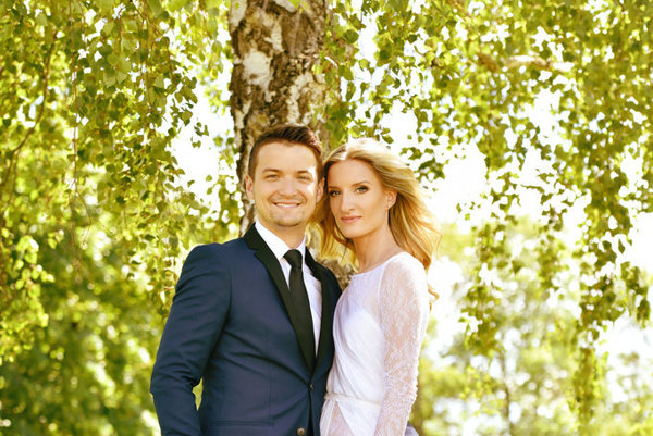 Novomanželia Vinczeoví.