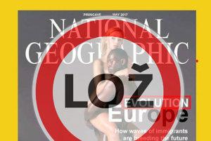 Falošná titulná strana National Geographic.