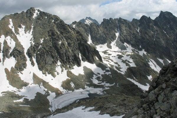 Mlynická dolina spod Bystrej lávky.