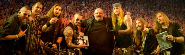 Švédska heavymetalová skupina Sabaton si prevzala vojenskú medailu Jozefa Gabčíka.