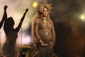 Beyonce na Grammy Awards vo februári 2017.