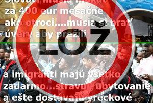 Hoax o platoch Slovákov a dávkach pre utečencov.