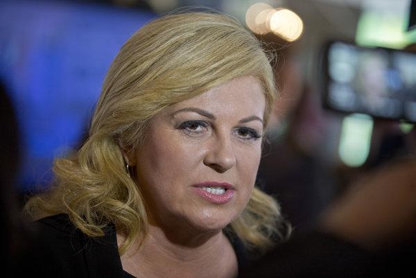 Chorvátska prezidentka Kolinda Grabarová Kitarovičová.