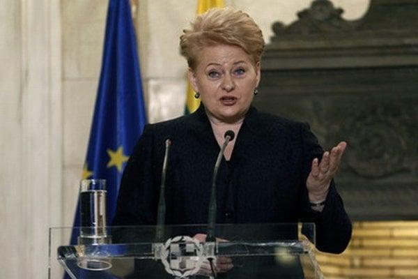 Litovská prezidentka Dalia Grybauskaitėová.