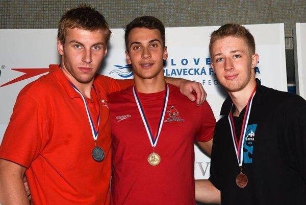 Gabriel Kupec a Jozef Beňo na 50 m prsia získali striebro respektíve zlato.