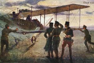 Rakúsko-uhorská pohľadnica s leteckou tematikou z čias prvej svetovej vojny