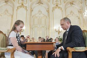 Lucia Kapičáková a Andrej Kiska.