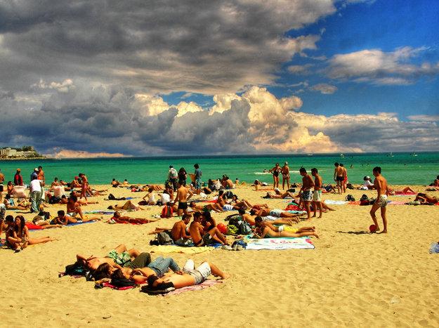 Slávna sicílska pláž Mondello.