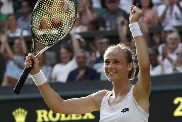Magdaléna Rybáriková po triumfe nad Karolínou Plíškovou.