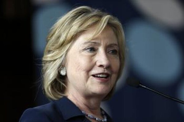 Bývalá americká ministerka zahraničných vecí Hillary Clintonová.