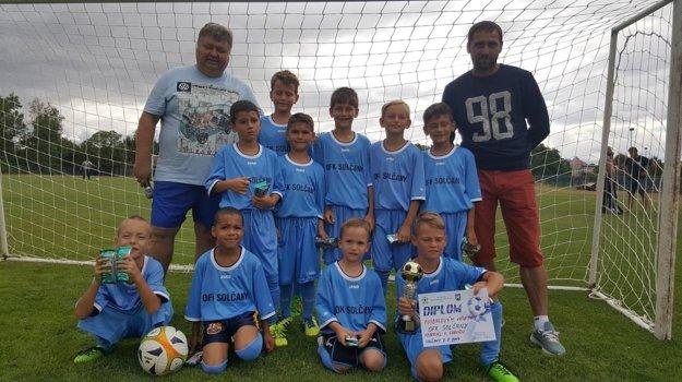 Mladé futbalové nádeje zo Solčian.