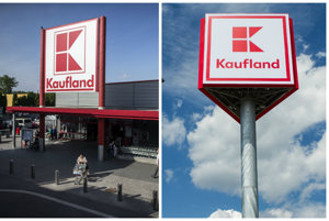 Vľavo staré logo Kauflandu, vpravo nové.