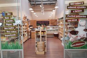 V Tulipe už funguje táto predajňa Proste bio s mnohými bio produktami.