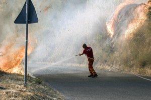 Požiar na juhu Talianska