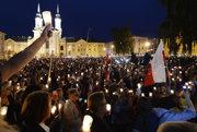 Protest proti zmenám v súdnictve.