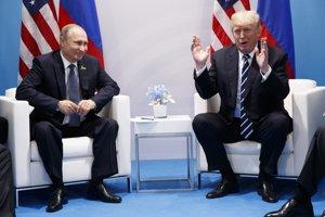 Vladimir Putin a Donald Trump na summite G20.
