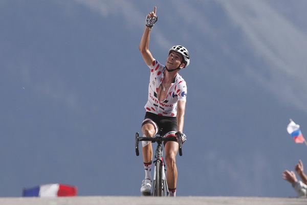 Warren Barguil prichádza do cieľa osemnástej etapy.