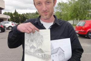 Juraj Moravčík so svojimi kresbami. Až operácia v ňom odhalila skryté nadanie.