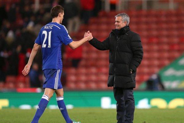 Nemanja Matič ešte v drese Chelsea. Prestúpil ksvojmu obľúbenému trénerovi José Mourinhovi.