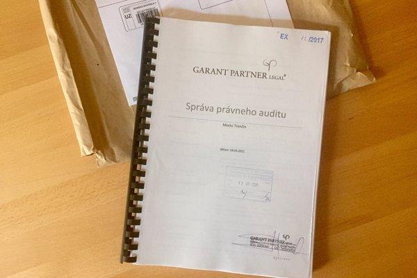 Správa právneho auditu.