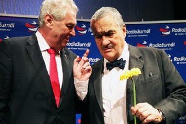 Jeden z nich bude českým prezidentom: šéf diplomacie Karel Schwarzenberg (vpravo) alebo expremiér Miloš Zeman.