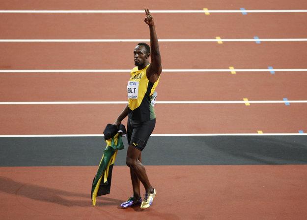 Usain Bolt sa lúči ziskom bronzovej medaily.