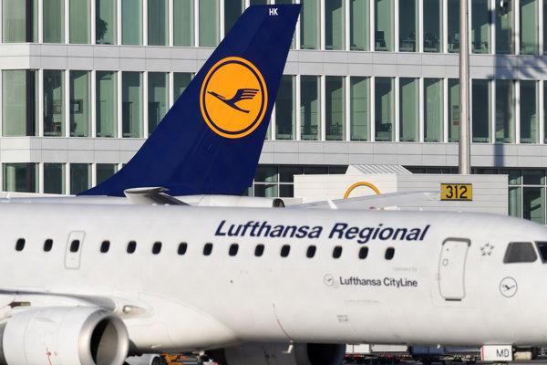 Lietadlo spoločnosti Lufthansa.