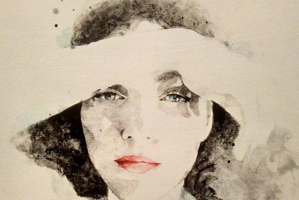 Autoportrét Adely Lédy Vašovej.