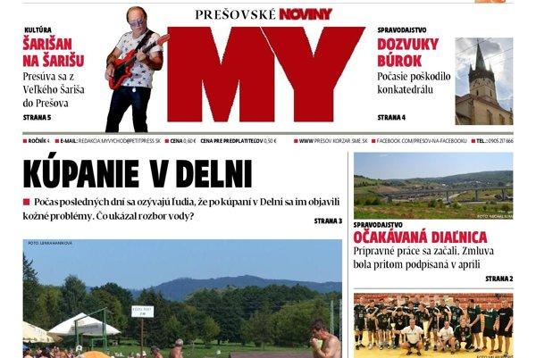 Nové číslo Prešovských novín je v stánkoch od utorka 15.8.