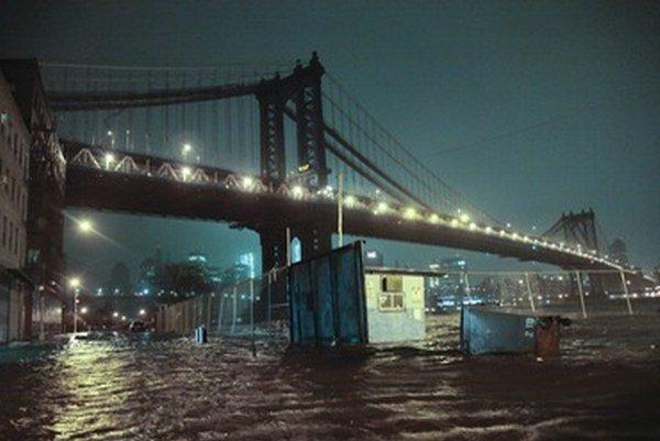 Zaplavené ulice Brooklynu.